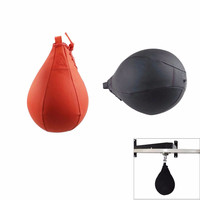 New Professional PU Boxing Speed Balls Pear Sports Punching Bag Fitness Workout MMA Training Equipment Tools Black Red
