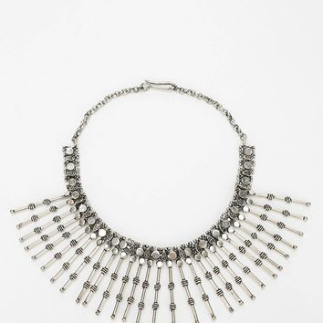 Barbed-Spikes Bib Necklace - Urban Outfitters