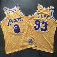 BAPE 93 x MITCHELL & NESS Lakers Swingman Jersey