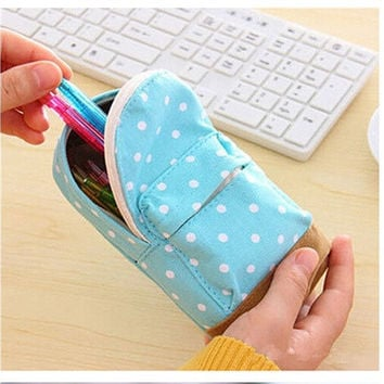 Multifunctional Canvas Stationery Bag / Purse [9145121862]