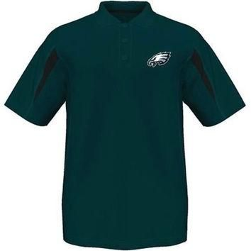 Philadelphia Eagles Majestic Moist Management Polo Shirt Big and Tall Sizes