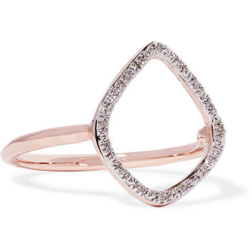 Monica Vinader - Riva rose gold-plated diamond ring