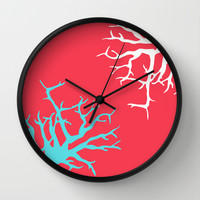 CORAL REEF 13 Wall Clock by Monika Strigel