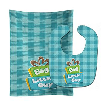 Boy Big Little Guy Baby Bib & Burp Cloth BB6825STBU