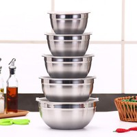 Ingredients Standby Bowls Mixing Bowl Stainless Steel DIY Cake Bread Salad Mixer Kitchen Cooking Tools