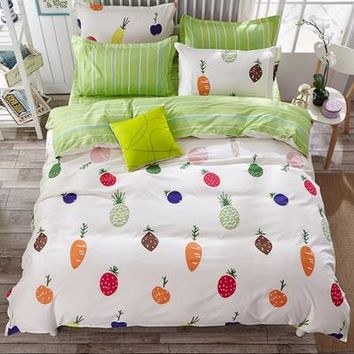 2017 fashion vegetable and fruit queen/full/twin size bed linen set bedding set sale bedclothes duvet cover bed sheet pillowcase