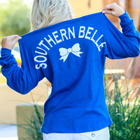 SOUTHERN BELLE JERSEY TOP IN ROYAL