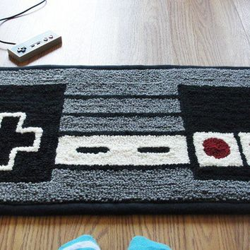 Nes nintendo controller rug from wtcrafts on etsy future Controller rug