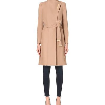 TED BAKER - Lorah long wool wrap coat | Selfridges.com