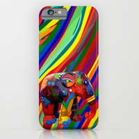 Full color abstract Elephant iPhone 4 4s 5 5c 6, pillow case, mugs and tshirt iPhone & iPod Case by Three Second
