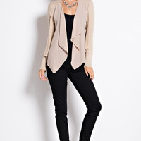 Open Front Nude Cardigan