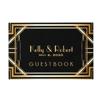 Great Gatsby Inspired Art Deco Wedding Guest Book