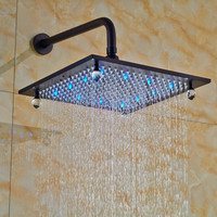 Bathroom LED Rainfall 12-inch Rainfall Shower Head Oil Rubbed Bronze