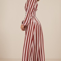 Chantilly Maxi Dress in chilli stripe Produced By SHOWPO