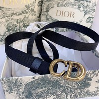 DIOR Fashion Women Canvas Belt