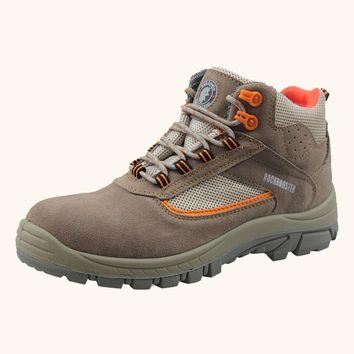 Leather Men Steel Toe Cap Work Safety Shoes Anti-Smashing Slip-Resistant Breathable Winter Boots