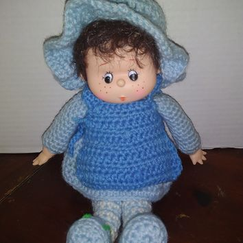 vintage strawberry shortcake blueberry muffin crochet baby doll plush
