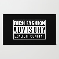 RICH FASHION - ADVISORY - EXPLICIT CONTENT Area & Throw Rug by All Is One