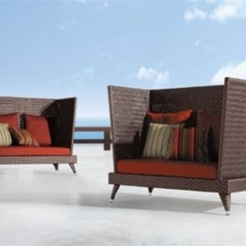 Tall Outdoor Rattan Sofa - Opulentitems.com