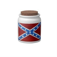 Rebel Flag Candy Jar from Zazzle.com