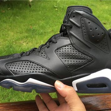 "Air Jordan 6 ""Black Cat "" Basketball Sneaker"
