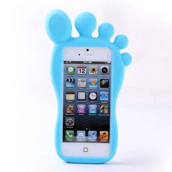 Cute Cartoon Feet Silicone Case for Iphone 4/4s/5 by onfancy