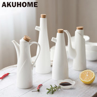 Ceramic Porcelain Olive Oil Pot Soy Sauce Vinegar Seasoning Can Oil Bottle Kitchen Accessories Cooking Tools Storage Bottles