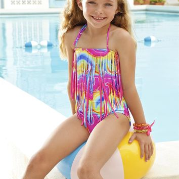 Peixoto Kids Magnolia One Piece | Lollipop Fringe Bikini