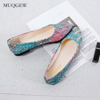 Women Girl Spring Mixed Colors Casual Shoes Female Pretty Comfortable Slip on Flat Shoes Ballerina Shoes