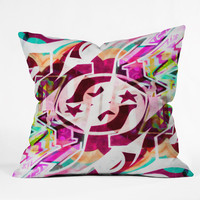 Caleb Troy Tatted Graffiti Throw Pillow