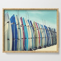 California surfboards Serving Tray by sylviacookphotography