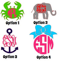 "5"" Preppy Vinyl Decal Sticker Whale Anchor Crab Deer"