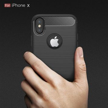 Ultra Thin Shockproof Armor Cover for iPhone X Case