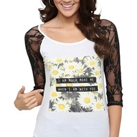 Raglan Top with Lace Sleeves and When I'm With You Screen