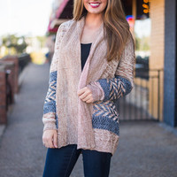 Right To Care Cardigan, Tan