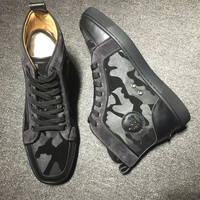 Christian Louboutin CL Leather Style #2142 Sneakers Fashion Shoes Best Deal Online