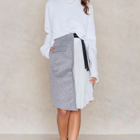 Asymmetric Felt Skirt