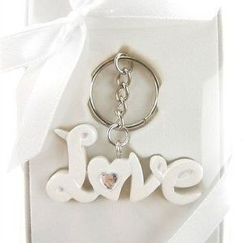 Wedding Bridal Shower Anniversary Party Favor Souvenir Gift Keepsake Ready Made, Key Chain, Love without Heart