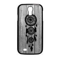 Hipster Vintage Black Dreamcatcher On Gray Wood Samsung Galaxy S4 Case