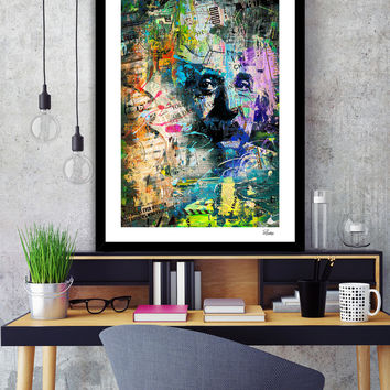 «Artistic OI - Albert Einstein II / NE» Art Print by ArtDesignWorks - Numbered Edition from $24.9 | Curioos