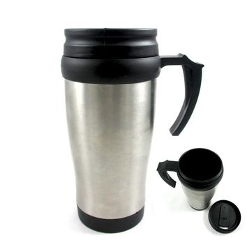 Stainless Steel Double Wall Insulated Travel Coffee Mug Cup 16 Oz Thermos Tea