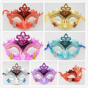 6 Color Sexy Venetian Masquerade Gold Mardi Gras Costume Mascaras Halloween Mask Laser Cut Metal Carnival Wedding Parties Masks