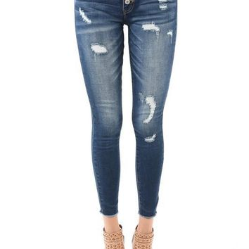 Bella Button Fly Ankle Jeans