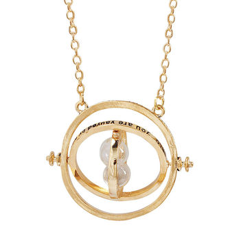 Harry Potter Time Turner Necklace Hourglass Pendant Jewelry