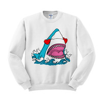 Love Shark Crewneck Sweatshirt