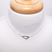 Horizontal Heart Necklace