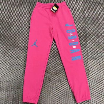 DCCKNQ2 Nike Air Jordan Woman Men Fashion Sport Pants Trousers Sweatpants