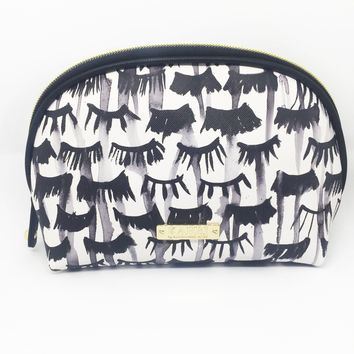 Lashes Saffiano Small Dome Cosmetic Bag