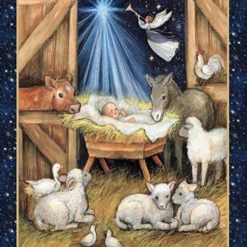 Christmas Nativity Panel Springs Creative Designed