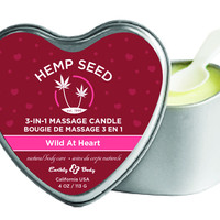 3-In-1 Heart Massage Candle With Hemp - Wild at Heart (4.7 oz.)